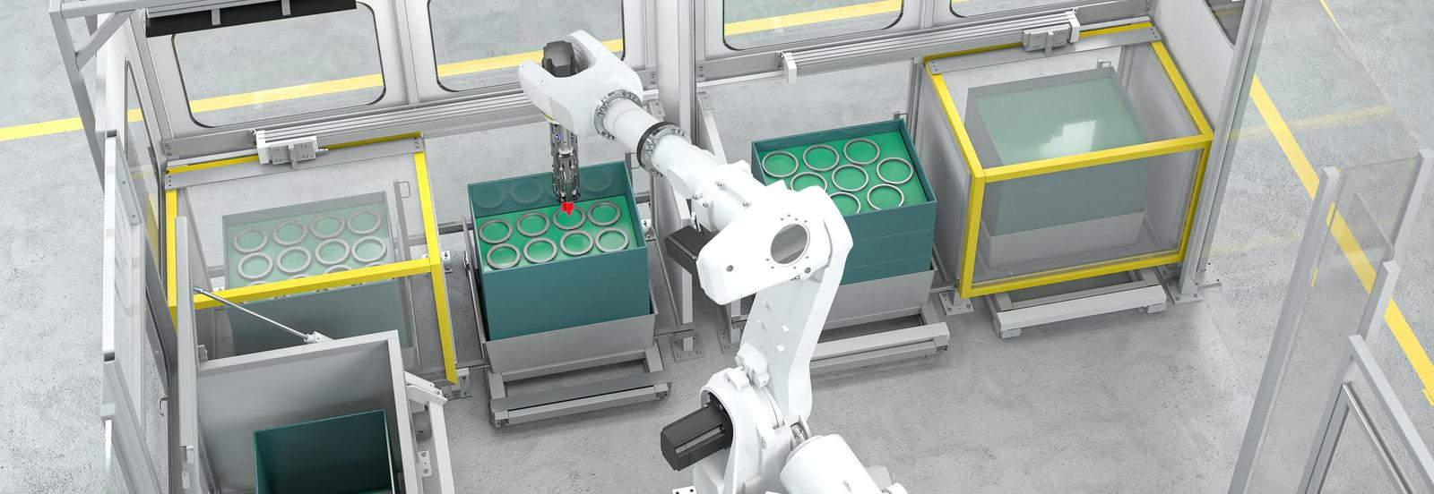 Multifunctional gripper for handling in hardening plants